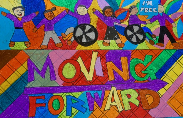 Moving Forward Mural in South Africa.